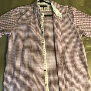 Ted Baker plaid dress shirt